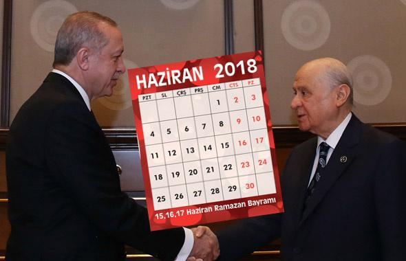 24 Haziran 2018 neye denk geliyor? Erken seçim tarihi