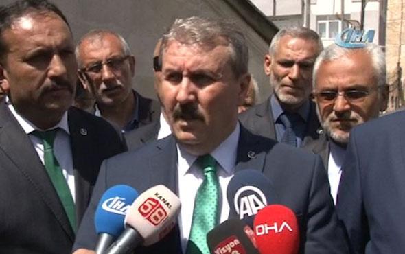 Mustafa Destici: Cumhur ittifakının adayını destekleyeceğiz