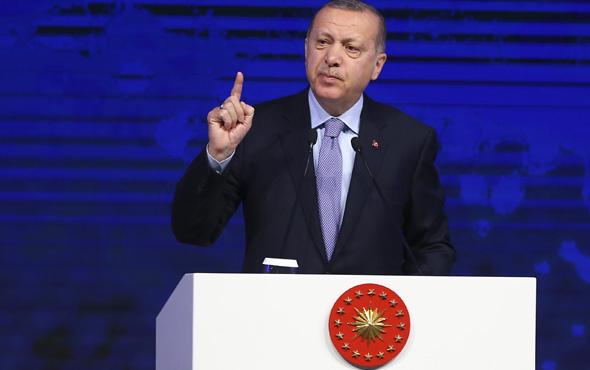 Erdoğan muhalefete meydan okudu salon ayağa kalktı
