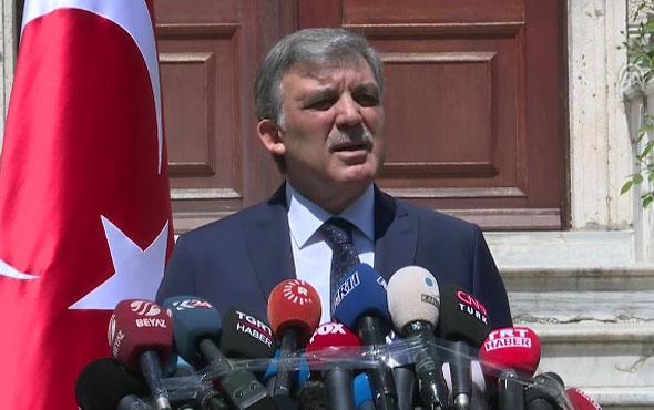 Abdullah Gül aday mı beklenen açıklama geldi
