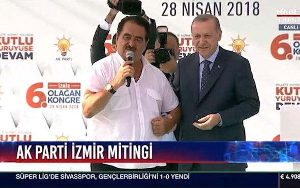 Erdoğan'ın İzmir mitinginde İbrahim Tatlıses sürprizi