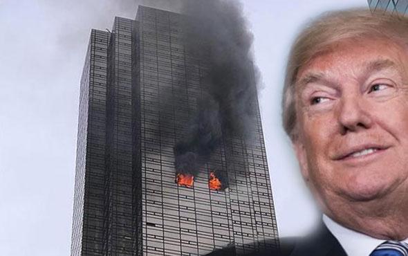 Trump Tower yandı! Trump dalga geçer gibi twit attı...