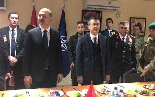 Süleyman Soylu ve Nurettin Canikli Kabil'de askerlerimizle buluştu