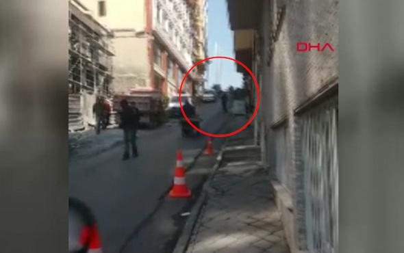 Taksim'de otele ateş açılma anı kamerada