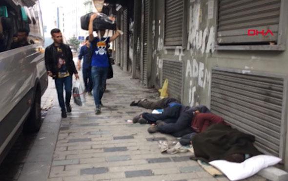 İstanbul'un göbeğinde ibretlik görüntü! Görenler kahroluyor