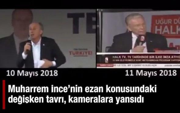 Muharrem İnce Halk TV'de konuşurken ezan okununca...