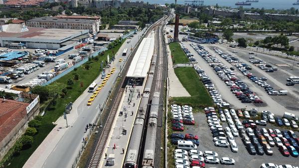 Yüzde 80 tamamlandı: Test treni raylarda!