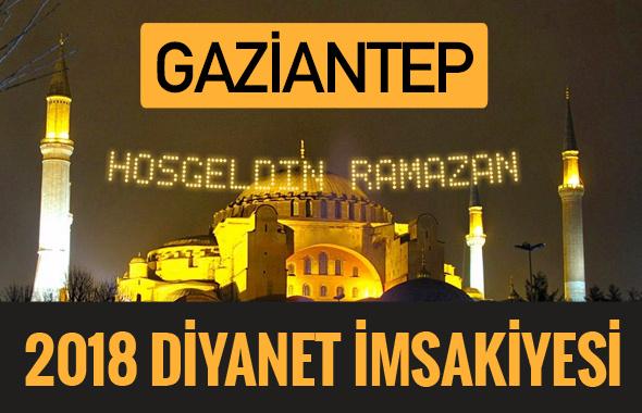 2018 İmsakiye Gaziantep- Sahur imsak vakti iftar ezan saatleri