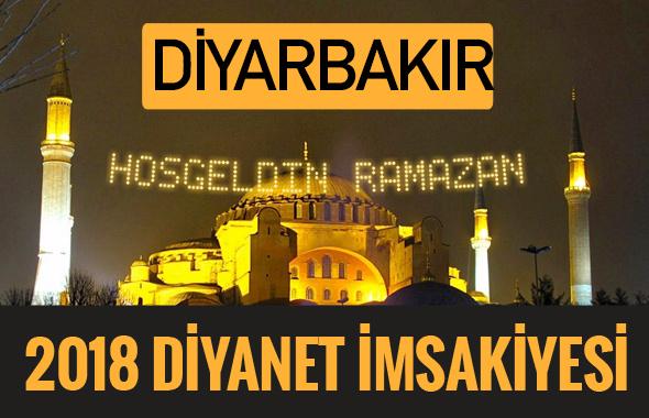 2018 İmsakiye Diyarbakır- Sahur imsak vakti iftar ezan saatleri