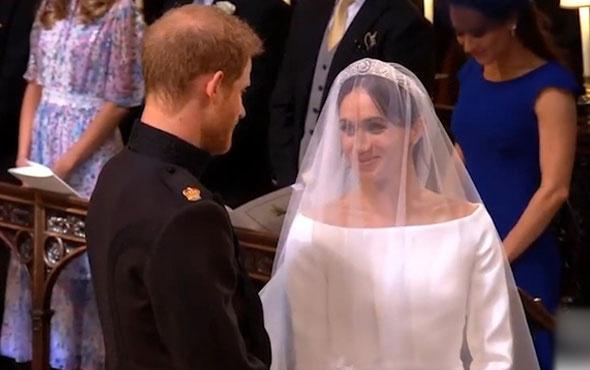 Meghan Markle ve Prens Harry evlendi! İşte düğünden görüntüler