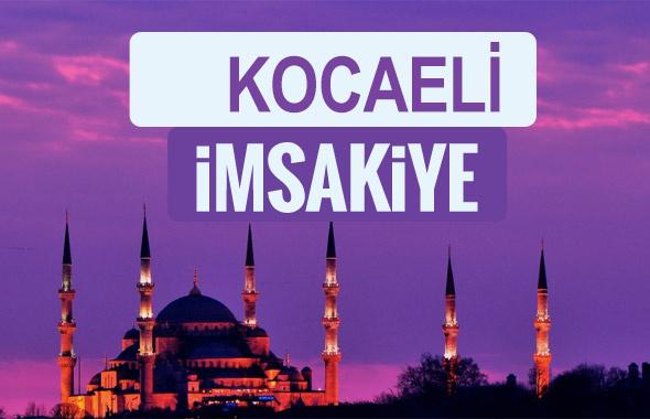 Kocaeli iftar saati sahur imsak vakti-2018 Kocaeli  İmsakiyesi