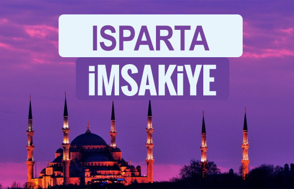 Isparta iftar saati sahur imsak vakti-2018 Isparta İmsakiyesi