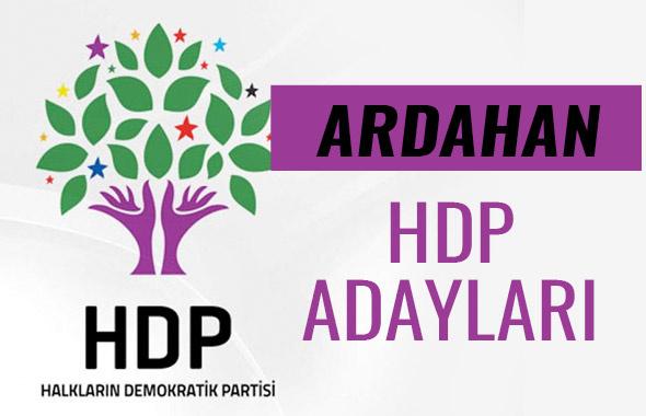 HDP Ardahan milletvekili adayları 27. dönem listesi