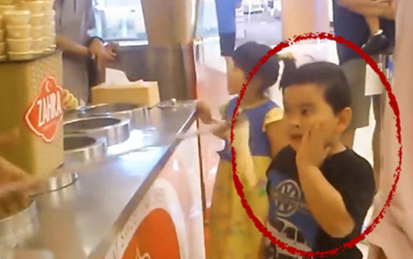 Türk dondurmacı çocuğun aklını aldı