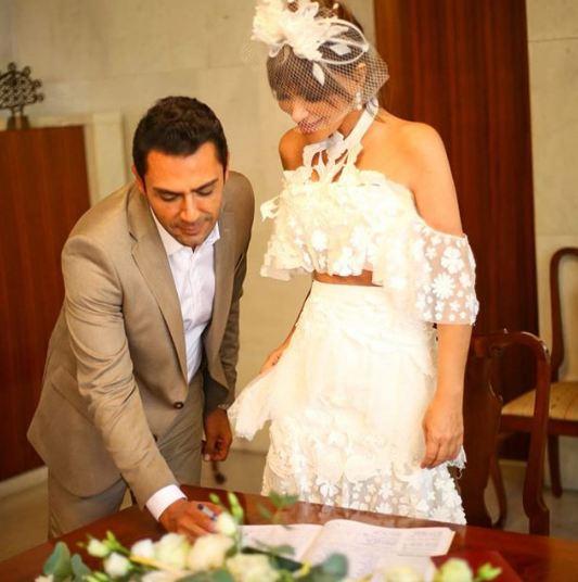 Seren Serengil Yaşar İpek apar topar evlendi Seren Serengil'in gelinliği olay