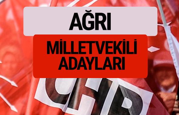 CHP Ağrı milletvekili adayları isimleri YSK kesin listesi