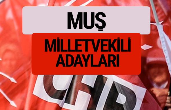 CHP Muş milletvekili adayları isimleri YSK kesin listesi