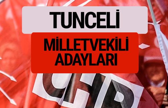 CHP Tunceli milletvekili adayları isimleri YSK kesin listesi