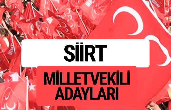 MHP Siirt milletvekili adayları 2018 YSK kesin listesi
