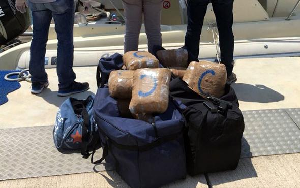 İzmir'de uyuşturucu teknesine film gibi operasyon