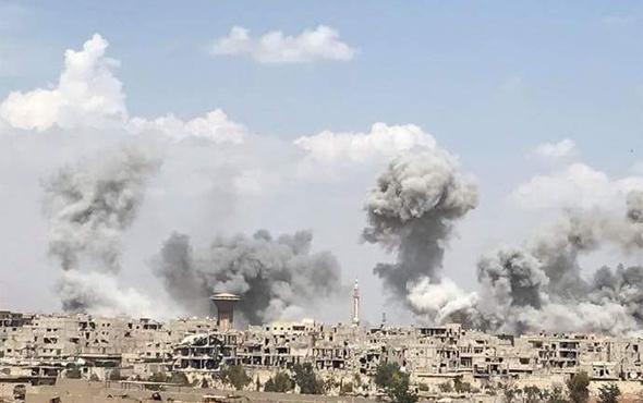 Suriye'deki hava saldırısında 8 sivil öldü
