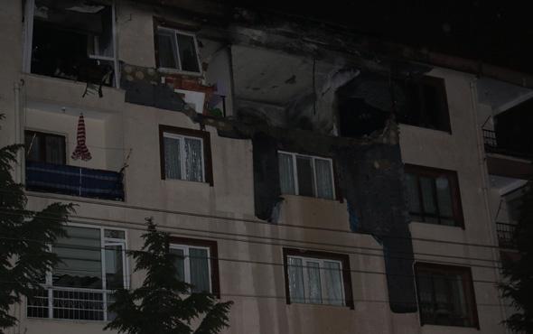 Apartmanın dördüncü katına yıldırım düştü