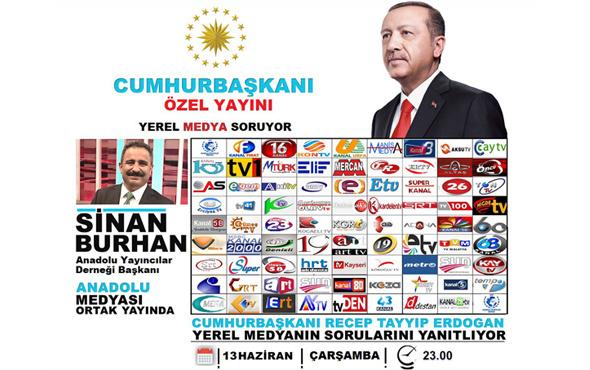 Cumhurbaşkanı Erdoğan Yerel Medya Soruyor'a konuk oluyor