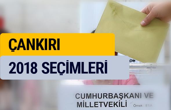 YSK Çankırı seçim sonuçları 2018 oy oranları
