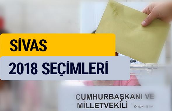 Seçim sonuçları 2018 YSK Sivas seçim sonucu