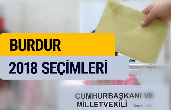 Seçim sonuçları 2018 Burdur sonucu YSK