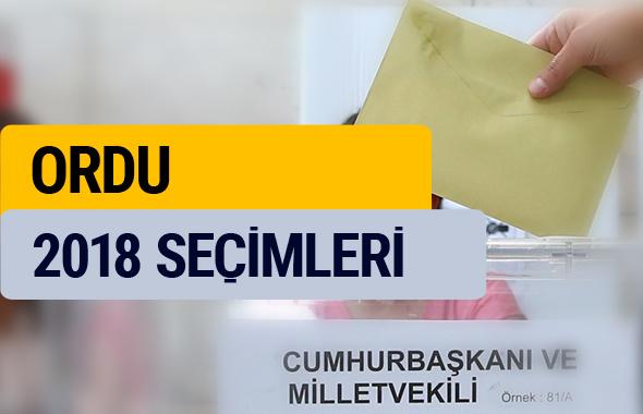 Ordu 2018 seçim sonucu YSK sonuçları
