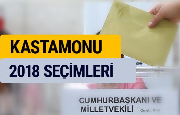 2018 seçim sonuçları YSK Kastamonu sonucu