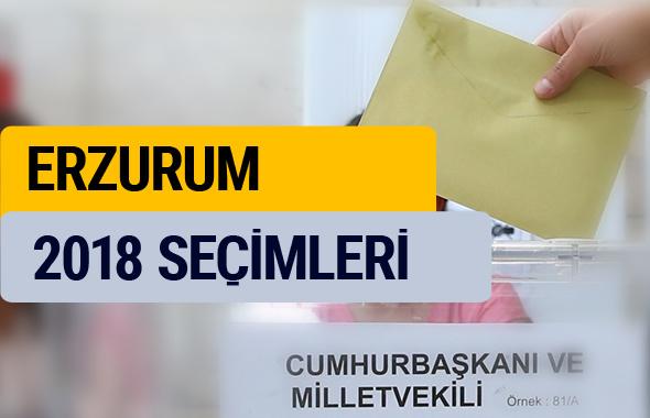 Erzurum seçim sonuçları 2018 YSK oy sonucu