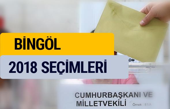 YSK Bingöl seçim sonuçları 2018 sonucu