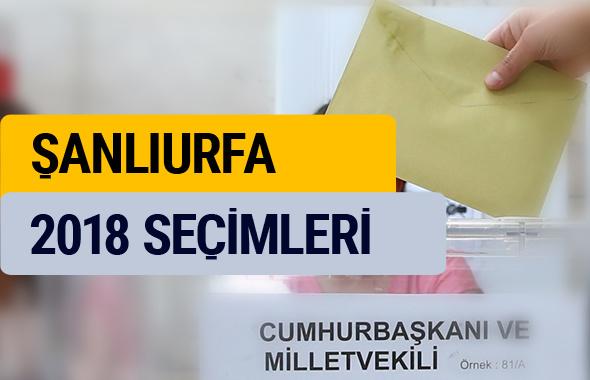 YSK 2018 seçim sonuçları Şanlıurfa sonucu