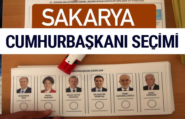Sakarya Cumhurbaşkanları oy oranları YSK Sandık sonuçları