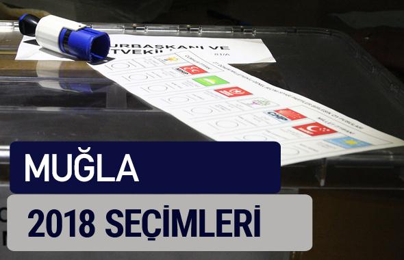 Muğla oy oranları partilerin ittifak oy sonuçları 2018 - Muğla