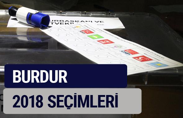 Burdur oy oranları partilerin ittifak oy sonuçları 2018 - Burdur