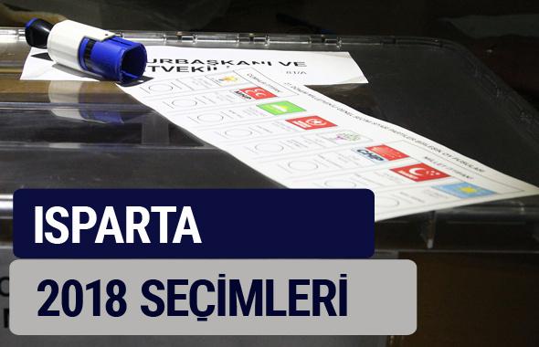 Isparta oy oranları partilerin ittifak oy sonuçları 2018 - Isparta