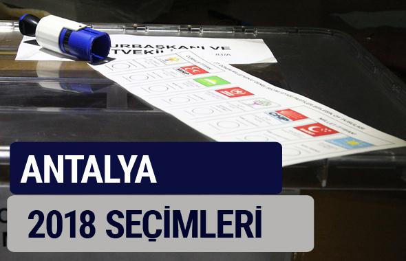 Antalya oy oranları partilerin ittifak oy sonuçları 2018 - Antalya