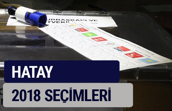 Hatay oy oranları partilerin ittifak oy sonuçları 2018 - Hatay