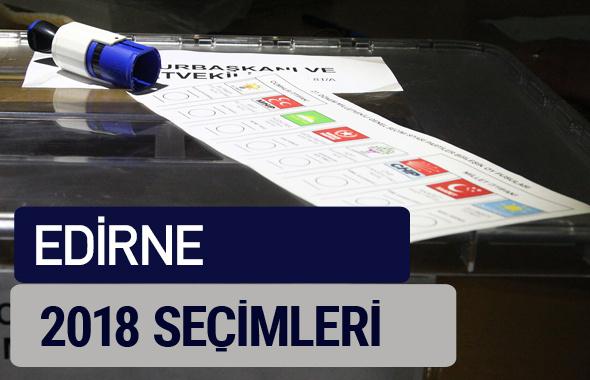 Edirne oy oranları partilerin ittifak oy sonuçları 2018 - Edirne