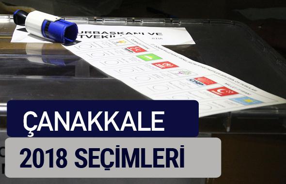 Çanakkale oy oranları partilerin ittifak oy sonuçları 2018 - Çanakkale