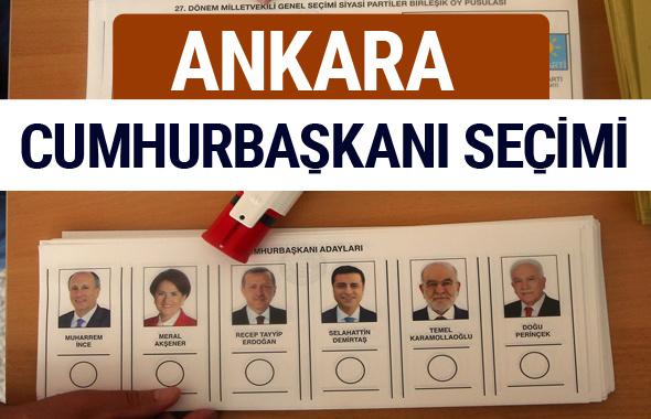 Ankara Cumhurbaşkanları oy oranları YSK Sandık sonuçları