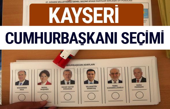 Kayseri Cumhurbaşkanları oy oranları YSK Sandık sonuçları