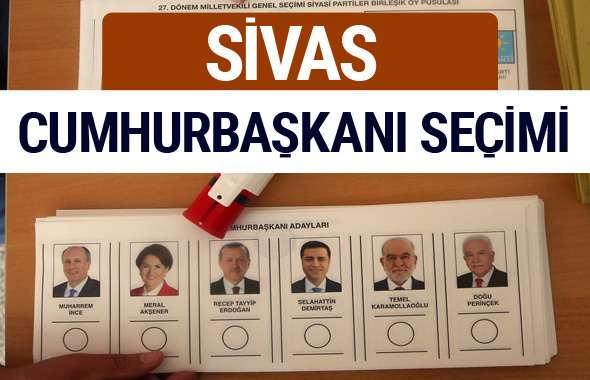Sivas Cumhurbaşkanları oy oranları YSK Sandık sonuçları