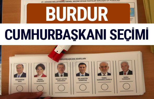 Burdur Cumhurbaşkanları oy oranları YSK Sandık sonuçları
