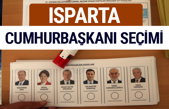 Isparta Cumhurbaşkanları oy oranları YSK Sandık sonuçları