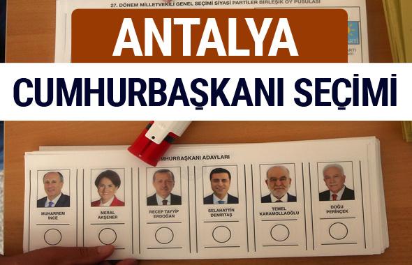 Antalya Cumhurbaşkanları oy oranları YSK Sandık sonuçları