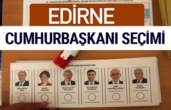 Edirne Cumhurbaşkanları oy oranları YSK Sandık sonuçları